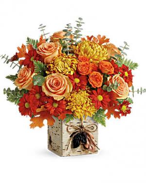 Wild Autumn Premium Cube Arrangement in Warrington, PA | ANGEL ROSE FLORIST INC.