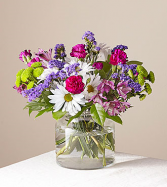 Wild Berry Clear Vase