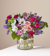 Wild Berry Deluxe Clear Vase