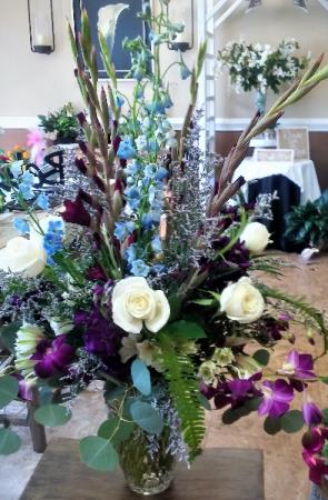 Wild Blue Yonder Vase in Venice, FL | ALWAYS AN OCCASION FLORIST & DECOR