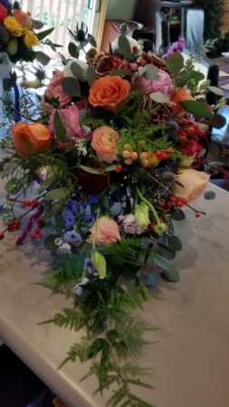 Wild Florida Love! Bridal Bouquet as Vibrant as their Love! in Canon City, CO   TOUCH OF LOVE FLORIST AND WEDDINGS