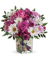 wild flower in flight standard vase
