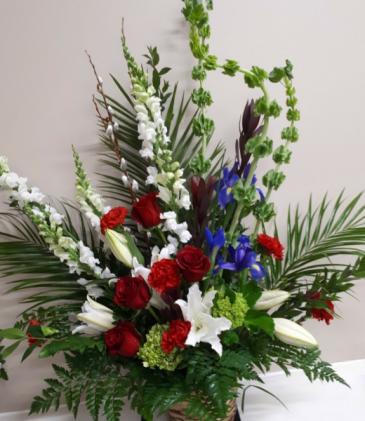 Wild Garden  Funeral Arrangement