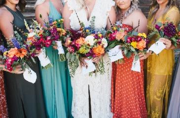 Wild Mix Bridesmaids Bouquets
