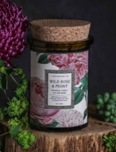 Wild Rose & Peony Candle