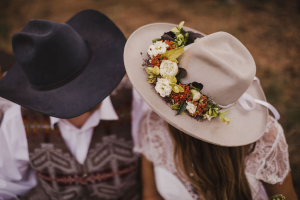 Wild Spring Dreams Hat Band in La Grande, OR | FITZGERALD FLOWERS