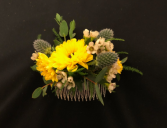 Wild Sunshine Floral Hair Comb