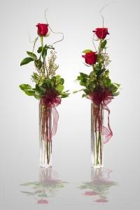 BBS16 Bud Vase One, Two or Three Rose Budvase