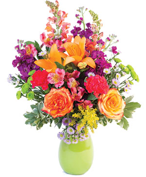 Wild Variety Flower Arrangement in Marion, IA | Lily and Rose Floral Studio
