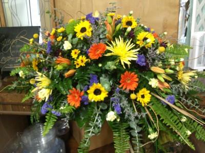 wildflower casket spray casket spray in kingston tn humble bee
