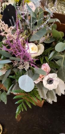 Wildflower hand tie bouquets