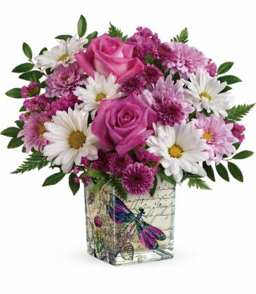 Wildflower In Flight Bouquet One-Sided Floral Arrangement