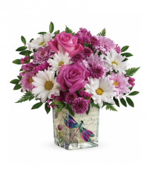 Wildflower In Flight Bouquet Vase arrangement