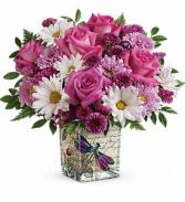 Wildflower in flight vase