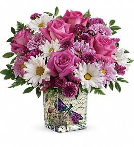 Wildflower in flight vase in Claremont, NH   FLORAL DESIGNS BY LINDA PERRON