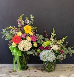 Wildflower mix in Recycled vase  in Milton, FL | PURPLE TULIP FLORIST INC.