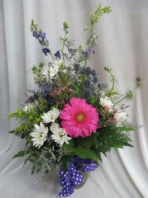 Wildflowers Fresh Mixed Vased Arrangement