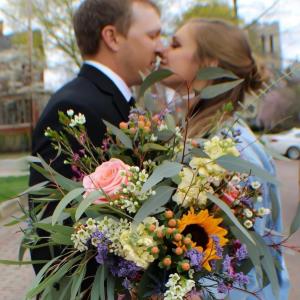 Wildflowers Wow! Bride's Bouquet in Warren, PA | VIRG-ANN FLOWER SHOP INC.