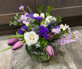 Wildly Purple Vase Arrangement