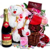 Will You Be My Valentine Basket Gift Basket