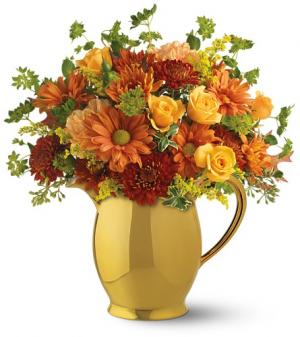 Williamsburg Pitcher One-Sided Floral Arrangement in Winnipeg, MB | KINGS FLORIST LTD