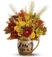 Williamsburge Salt-Glaze Pitcher     09T300 Fresh Floral Keepsake
