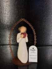 Willow Tree Angel of the Heart trellis ornament For those who love and are loved