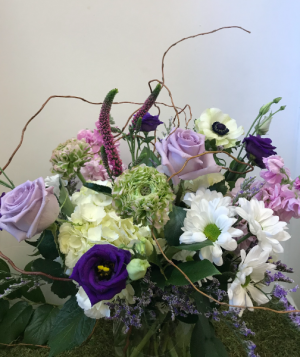 Willowing Lavender Vase Arrangement in Northport, NY | Hengstenberg's Florist