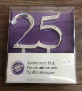 Wilton Anniversary Pick 25 th Anniversary Cake Pick