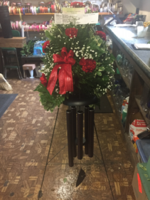 Wind Chime Arrangement Floral Standing Spray