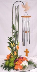 Wind Chime Floral Arrangement
