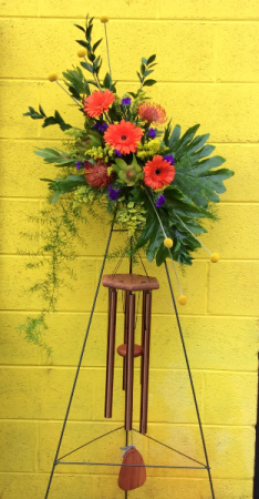 Wind Chime Sympathy Easel