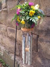Windchime Remembrance sympathy arrangement
