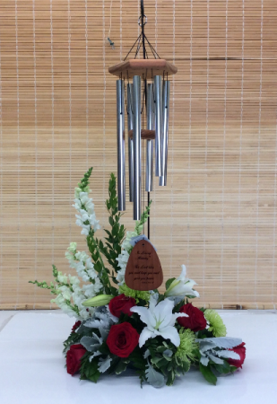 Windchime Sympathy Arrangement