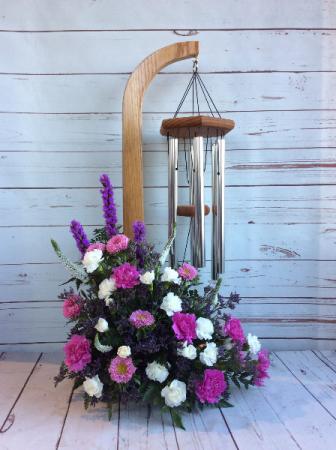 Windchimes & Flowers (Lavender/Pink)