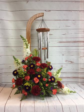 Windchimes & Flowers (Purple & Orange)
