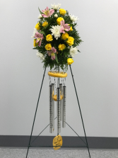 Windchimes With Flowers funeral