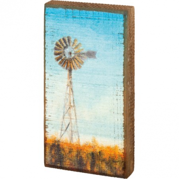 Windmill Block Sign