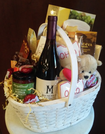 Wine, Cheese and Gourmet Gift Baskets