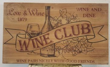 Wine Club Sign