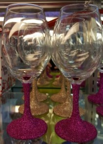 WINE GLITTER GLASSES GIFTS