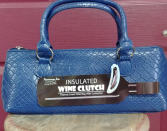 Wine purse with cork screw Wine purse