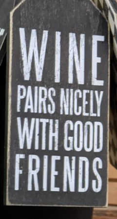 Wine tag- pairs nicely with good friends