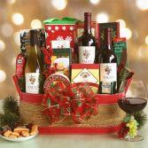 Wine Trio And Goodie Basket Gourmet Gift basket