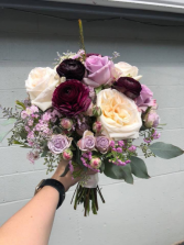 Wine/Burgundy/Lavender/Cream Brides Bouquet