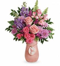 Winged Beauty Bouquet     T18M100 Floral Keepsake Arrangement