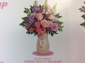 Winged beauty bouquet  Vase arrangement