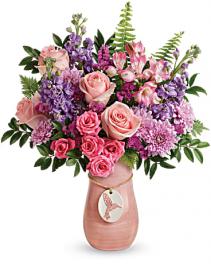 Winged beauty Keepsake vase