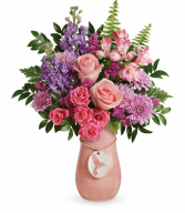 Winged Beauty Premium Keepsake Vase Arrangement