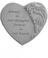 Winged Heart Memory Stone